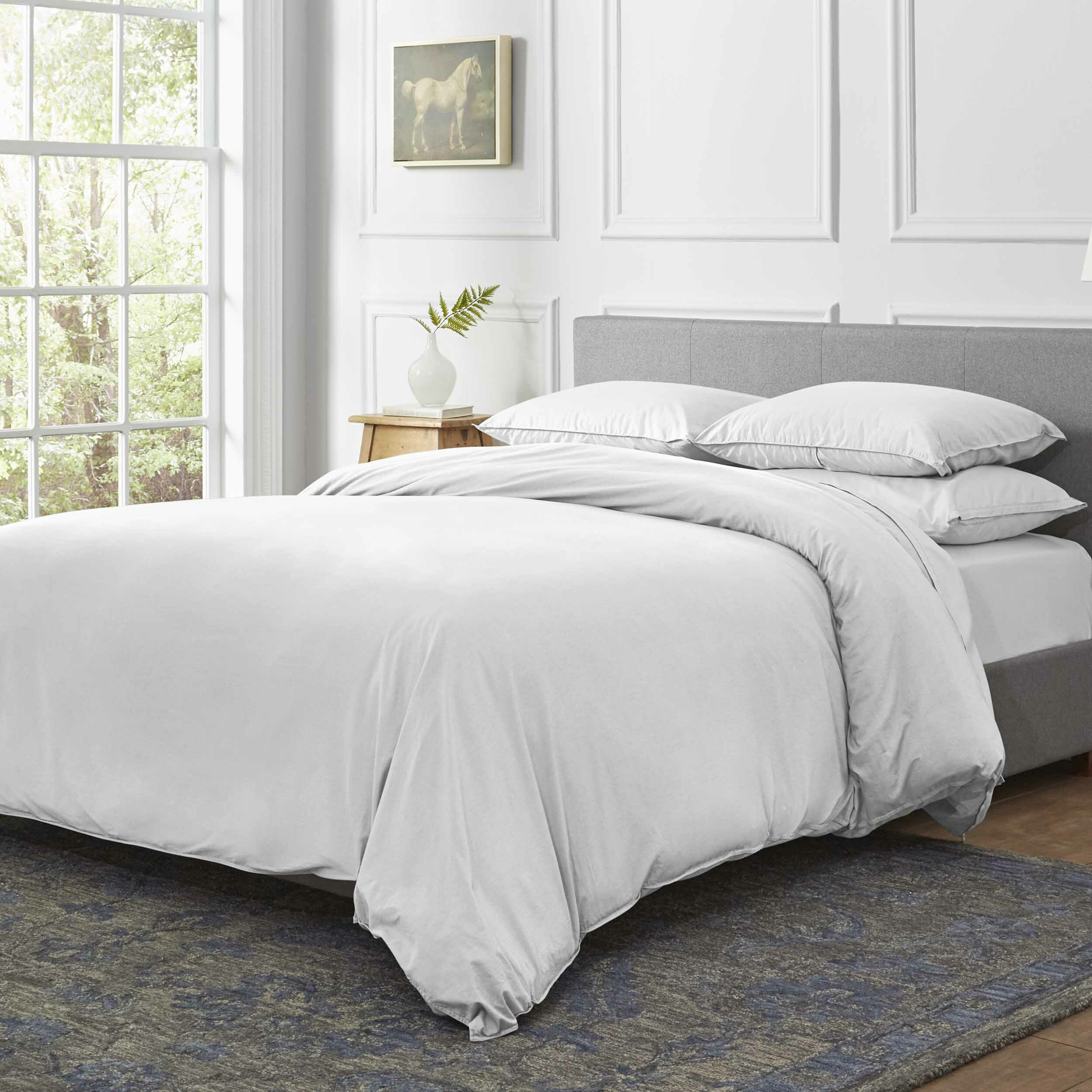 Basics Everyday Flannel Duvet Cover Set King Beige Duvet Cover Sets Bedding Sets Collections