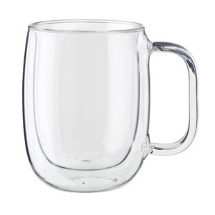 Sorrento Plus Glass Coffee Mug (Set of 2)