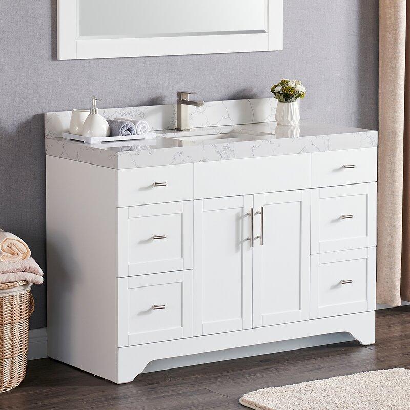 Wrought Studio Exquisite Home 48 Single Bathroom Vanity Set Reviews Wayfair