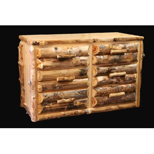 Amias Half Log Front 6 Drawer Double Dresser