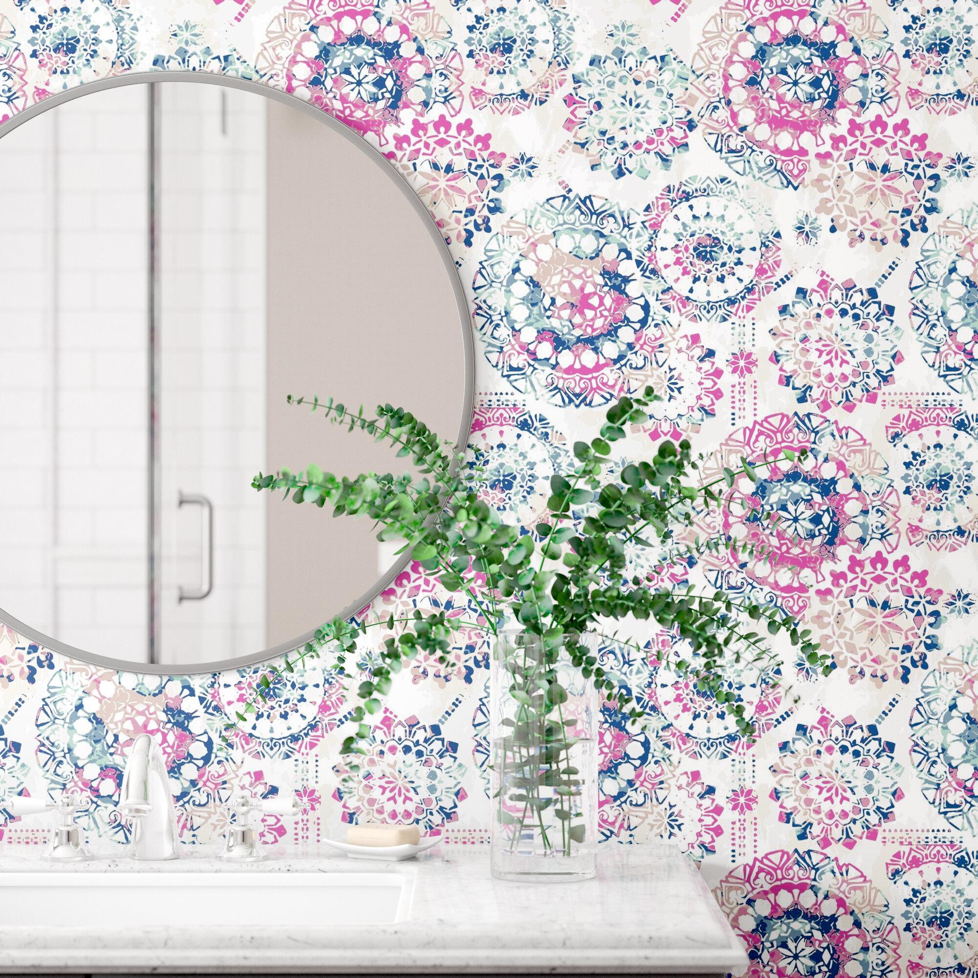 Destiney Bohemian 16 5 L X 20 5 W Floral And Botanical Peel And Stick Wallpaper Roll Reviews Joss Main