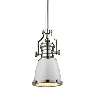 Best Reviews Susan 1-Light Bell Pendant By Red Barrel Studio