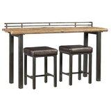 Elmore 3 Piece Pub Table Set by Williston Forge