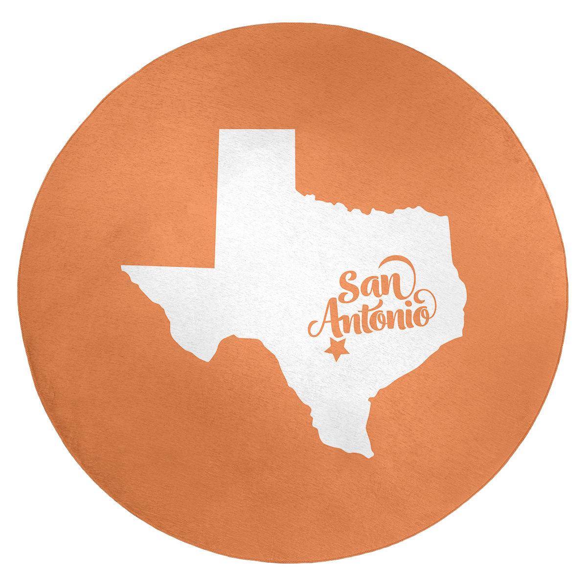 East Urban Home San Antonio Texas Poly Chenille Rug Wayfair