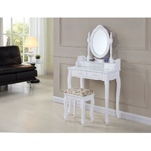Daquan Dressing Table Set With Mirror By Lily Manor