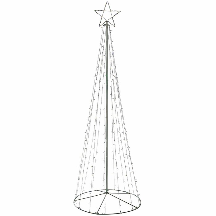 Pre Lit Pop Up Christmas Tree Uk.360cm Large Pop Up Christmas Tree Lighted Display With Pre Lit Led