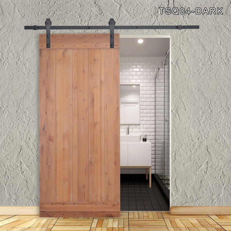 Calhome Vertical Slat Primed Solid Wood Panelled Slab Interior Barn ...