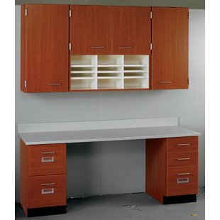 Suites 2 Piece Standard Desk Office Suite with Locks