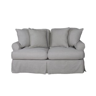Callie T-Cushion Loveseat Slipcover by August Grove