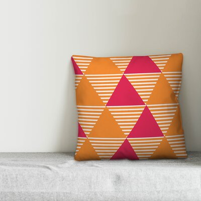 Mccusker Geo Stripe Triangle Indoor/Outdoor Throw Pillow by Wrought Studio Modern