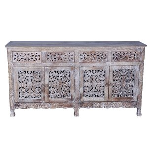 Aveliss Carved 4 Door Hand-carved Sideboard Bungalow Rose
