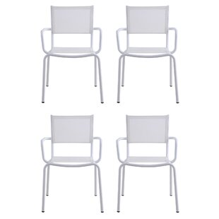 Tobiah Stacking Patio Dining Chair (Set of 4)