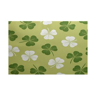 Reviews Funky Junky Green/White Area Rug By The Holiday Aisle