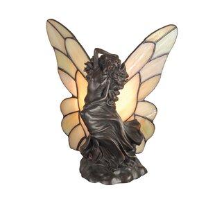 Meyda Tiffany Floating Fairy Accent Table Lamp in Mahogany Bronze