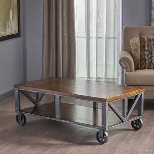Warleigh Coffee Table with Casters Gracie Oaks