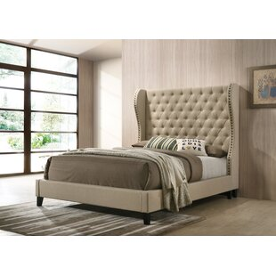 Landes Upholstered Panel Bed by House of Hampton