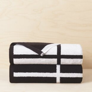Wesley Reversible 2 Piece 100% Cotton Bath Towel Set