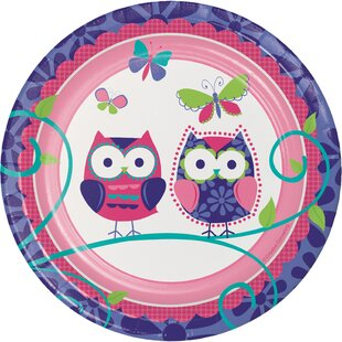 Owl Pal Birthday Appetizer Plate (Set of 24)