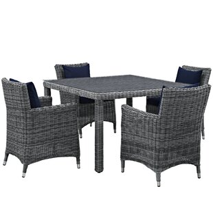 Keiran 5 Piece Dinning Set with Cushions by Brayden Studio