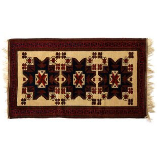 Top Reviews One-of-a-Kind Hand-Woven Wool Ivory/Red Area Rug By Exquisite Rugs