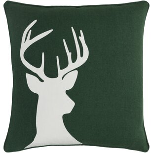 Pirtle Deer Cotton Throw Pillow