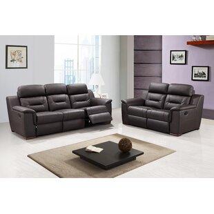 Latitude Run Kreger Reclining 2 Piece Living Room Set (Set of 2)