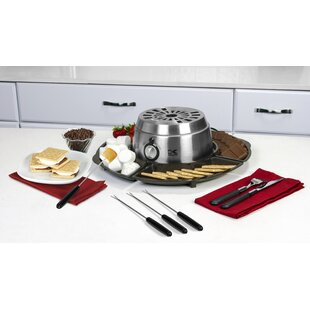 Kalorik 2 qt. 2-in-1 S'mores Maker and Chocolate Melter Stainless Steel Fondue Set