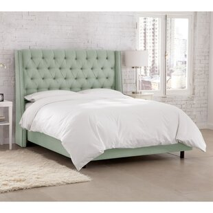 Kennedy Upholstered Panel Bed by Skyline Furniture