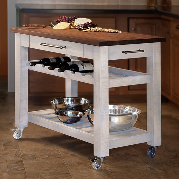 Martins Homewares Metro Mobile Kitchen Island With Solid