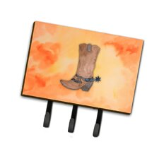 Cowboy Boot Watercolor Leash or Key Holder by Caroline's Treasures