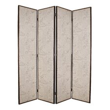 84 x 84 Salvatore 4 Panel Room Dividers by Screen Gems