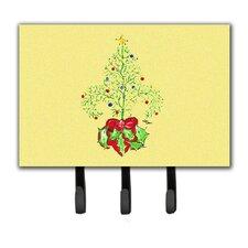 Christmas Tree Fleur De Lis Leash Holder and Key Hook by Caroline's Treasures