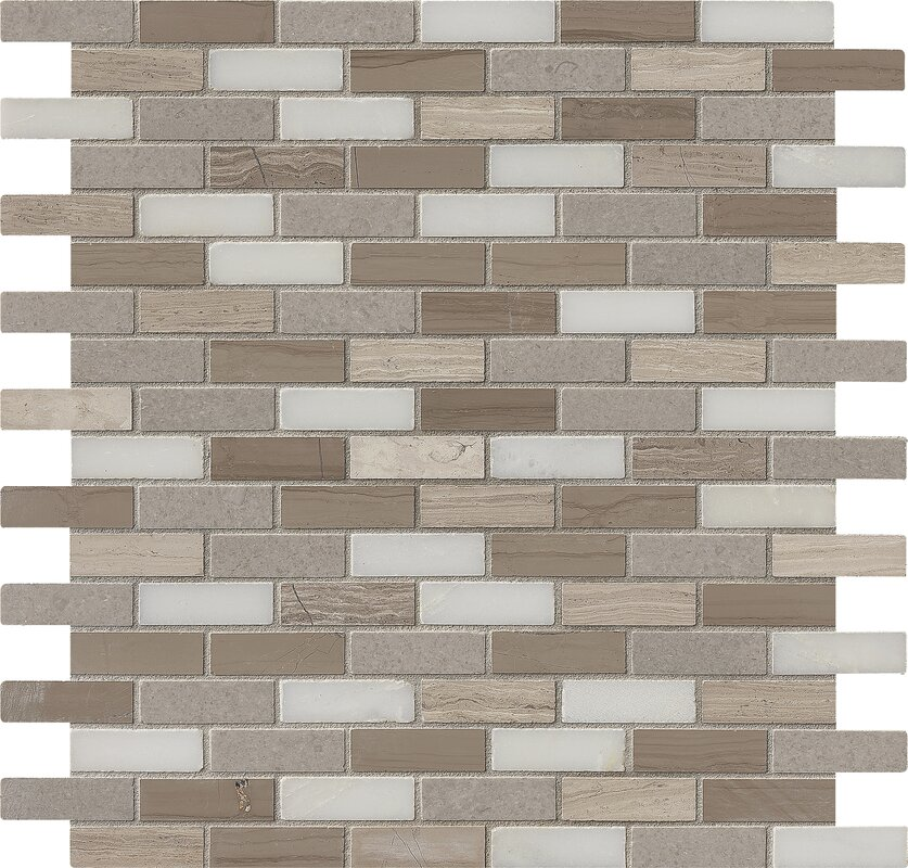 MSI Arctic Storm Mounted 063 x 2 Marble Mosaic Tile in Brown