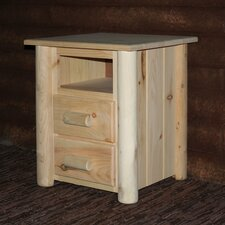 Frontier 2 Drawer Nightstand by Lakeland Mills