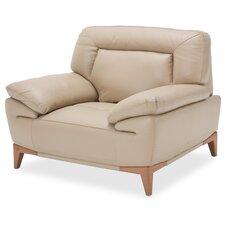 Mia Bella Turano Leather Club Chair by Michael Amini (AICO)