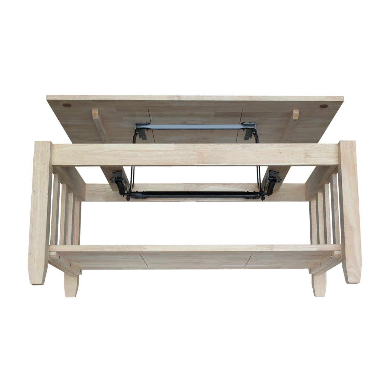 Unfinished Wood Mission Coffee Table with Lift Top - International Concepts Unfinished Wood Mission Coffee Table With