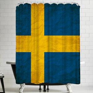Wonderful Dream Swedish Flag Shower Curtain East Urban Home