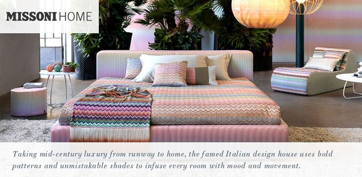 missoni home - pillows, bedding, throws + rugs | allmodern