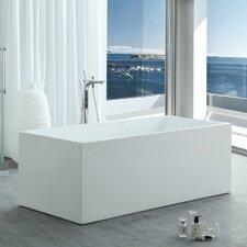 "HelixBath Pompeii Modern 67"" X 29.5"" Freestanding Soaking Bathtub"