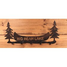Pine Trees and Canoe Personalized Coat Rack by Coast Lamp Mfg.