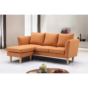 Dunagan Modern Reversible Compact Sectional by Ivy Bronx