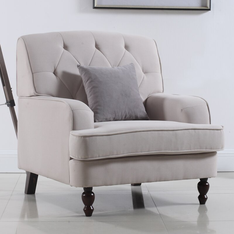 Madison Home USA Modern Tufted Fabric Living Room Armchair