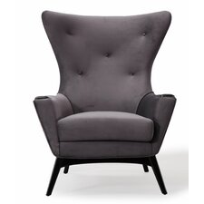 Hollis Velvet Wingback Chair by House of Hampton