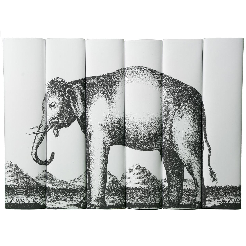 Juniper Books Llc Decorative 6 Piece Elephant Book Set
