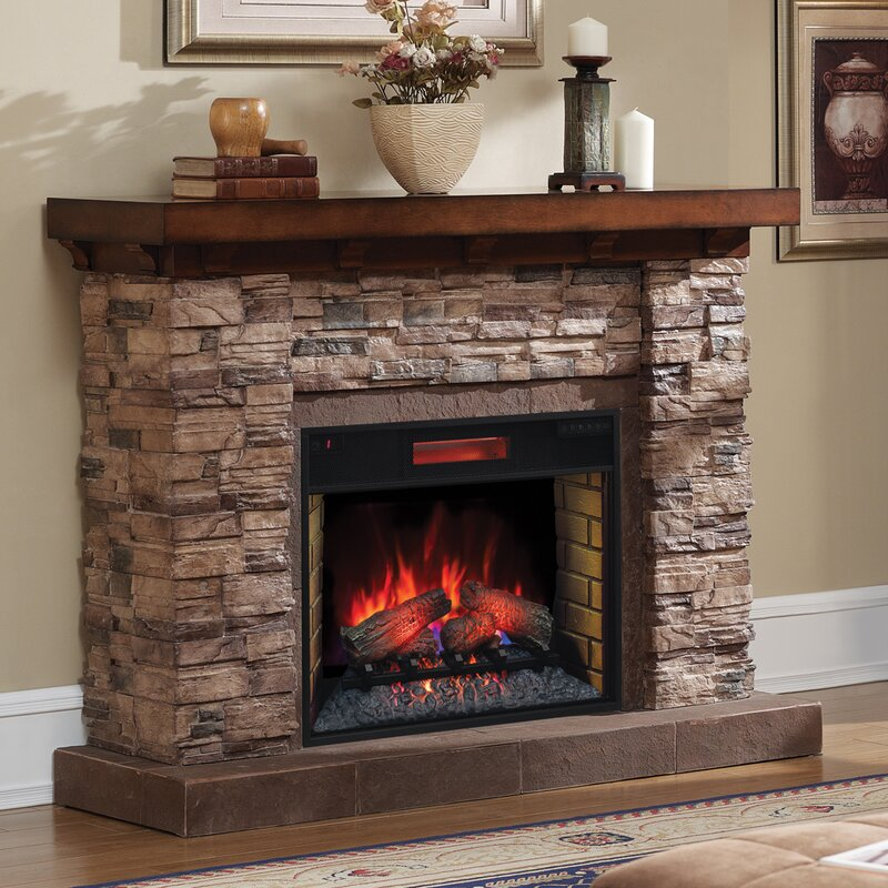 Fireplace Design powerheat infrared quartz fireplace : Classic Flame Stacked Stone Infrared Electric Fireplace | Wayfair ...