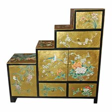 Chinese Leaf Step Tansu Cabinet by Oriental Furniture