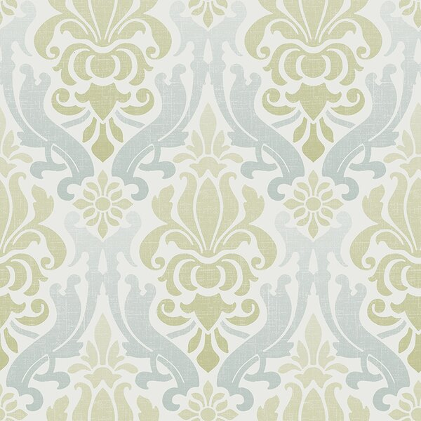 "wallpops! nouveau 18' x 20.5"" damask peel and stick wallpaper roll"