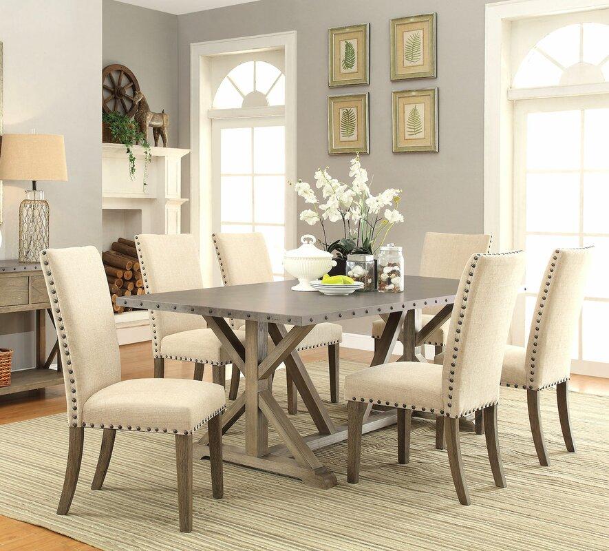infini furnishings athens 7 piece dining set & reviews | wayfair