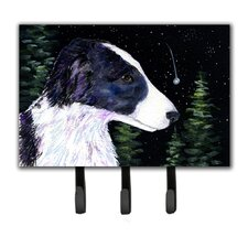 Starry Night Border Collie Leash Holder and Key Hook by Caroline's Treasures