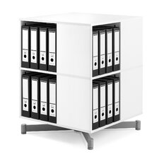 Cube Binder and File Carousel 34 H Two Shelf Shelving Unit by Moll